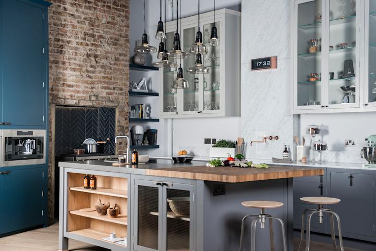 W9 | Industrialisme éclectique Davonport Cuisine de style industriel Gris bois