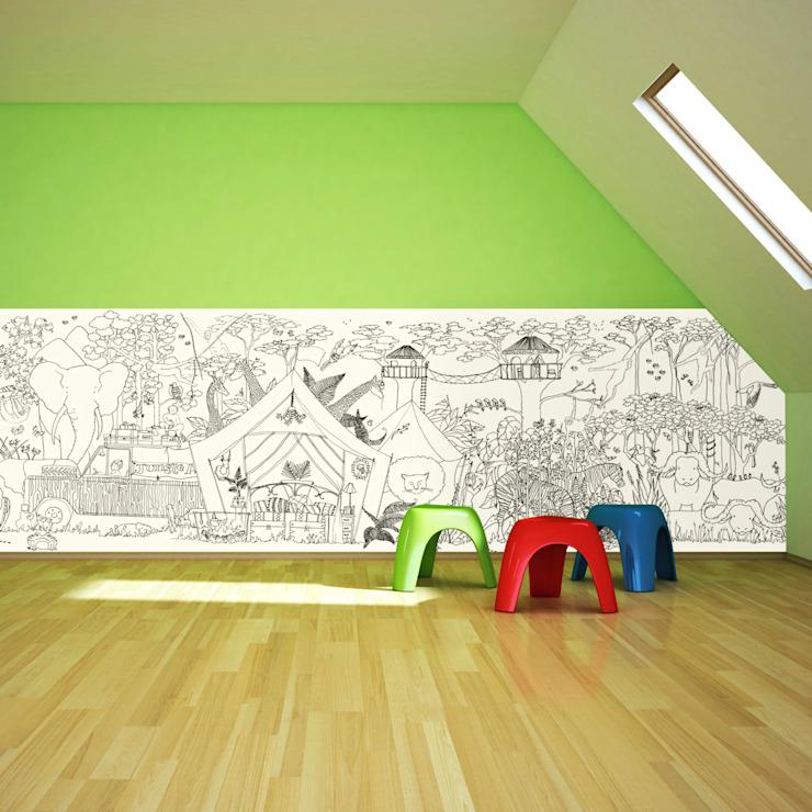 Papier peint Jungle Half Wall de Funwall