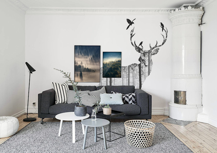 Mysterious Woods Salon de style scandinave par Pixers Scandinavian