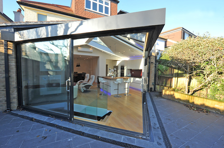Transition jardin/vie Conservatoire moderne par Paul Wiggins Architects Modern