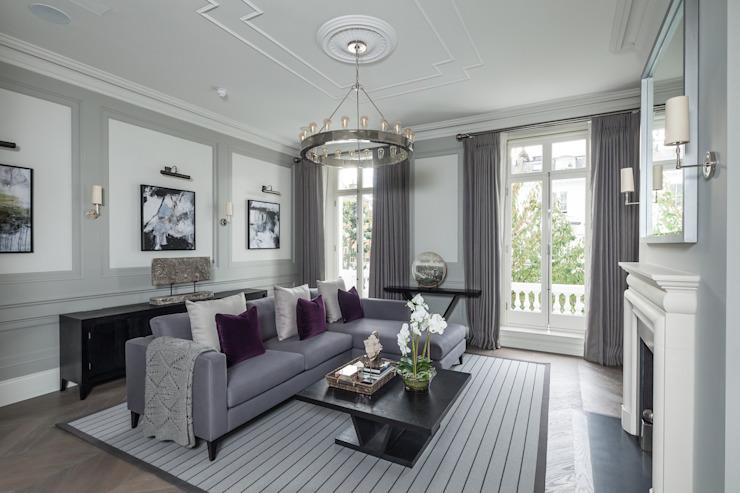 Kensington Town House Salon moderne par London Home Staging Ltd Modern