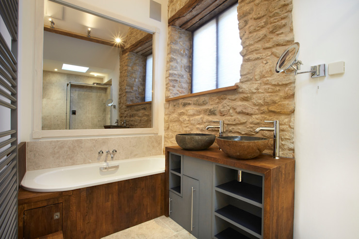 Salle de bains confortable Salle de bains de style campagnard par Hart Design and Construction Country
