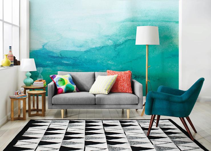 Ombre Pixers Salon de style scandinave Turquoise