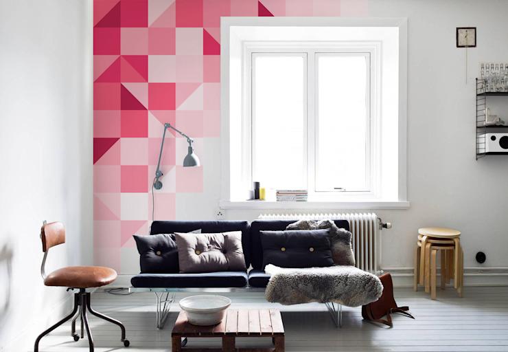 Rose géométrique Pixers Salon moderne Rose