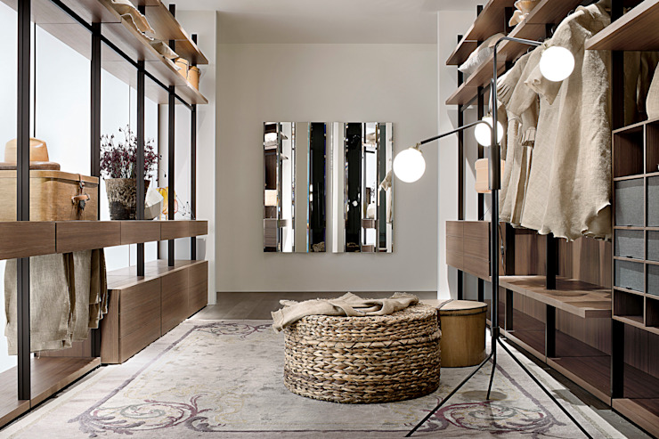 Hangar Walk In Wardrobe by LEMA Campbell Watson DressingWardrobes & drawers
