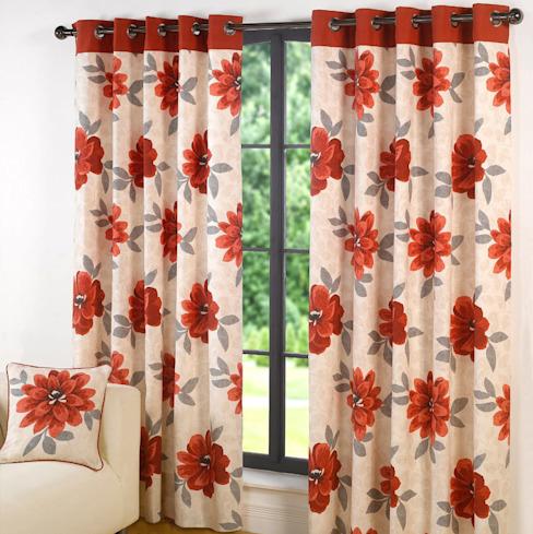 Design Annabella Red Ring Top Curtains : modern by Century Mills , Modern