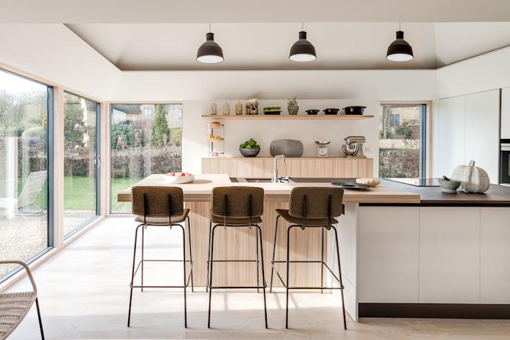 Artisanat d'art Étage de conception de la maison Cuisine de style scandinave