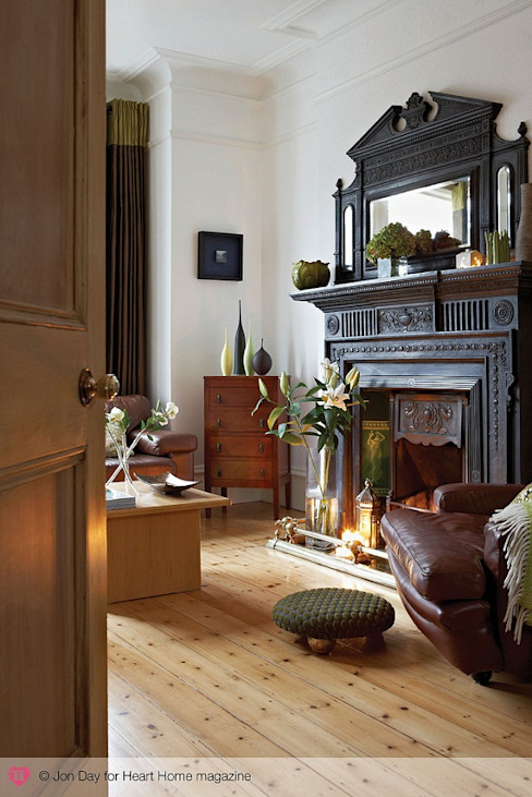 Un salon éclectique de style classique édouardien par le magazine Heart Home Classic