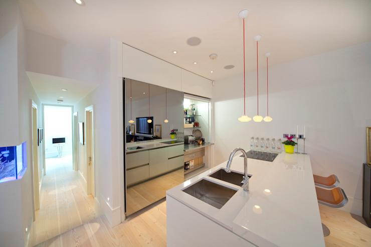 Cuisine en sous-sol Gullaksen Architects Cuisine minimaliste