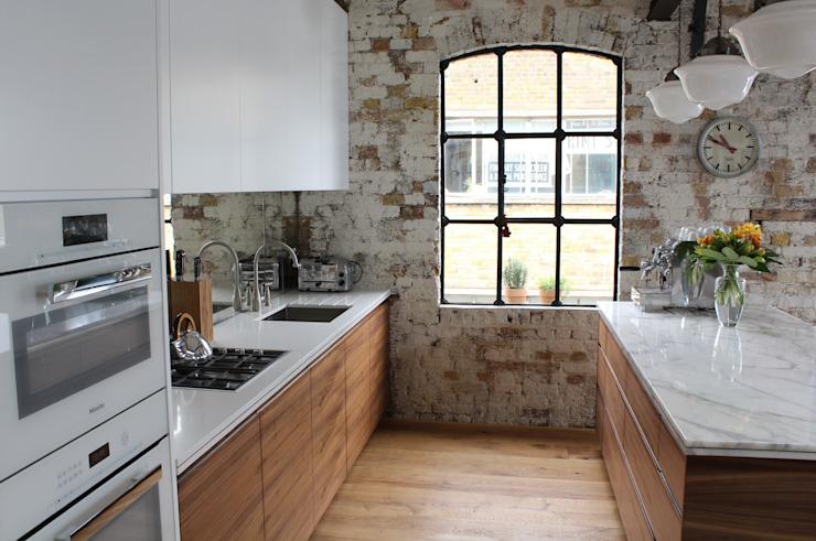 Shoreditch EC1 : Augmentation de la surface habitable des entrepôts Cuisine de style industriel