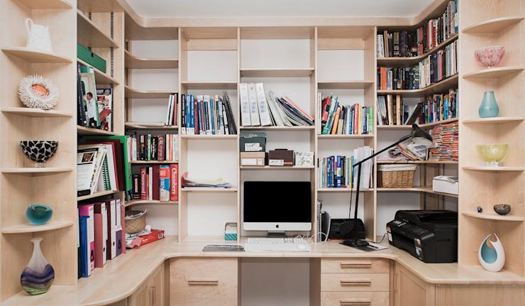 Home office/study Modern study/bureau par Worsley Woodworking Modern