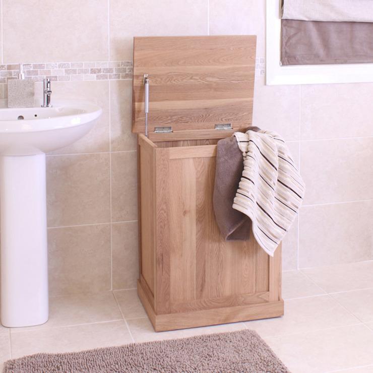 Mobel Oak Laundry Bin Asia Dragon Furniture from London BathroomStorage