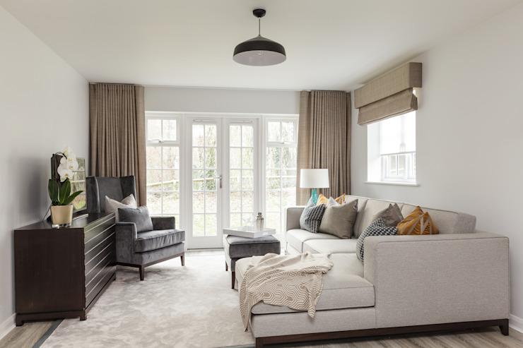 Living Room Modern salon par The White House Interiors Modern