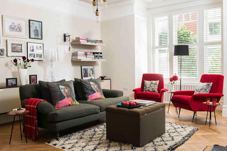 Whitehall Park Résidentiel Salle de séjour moderne par SWM Interiors & Sourcing Ltd Modern