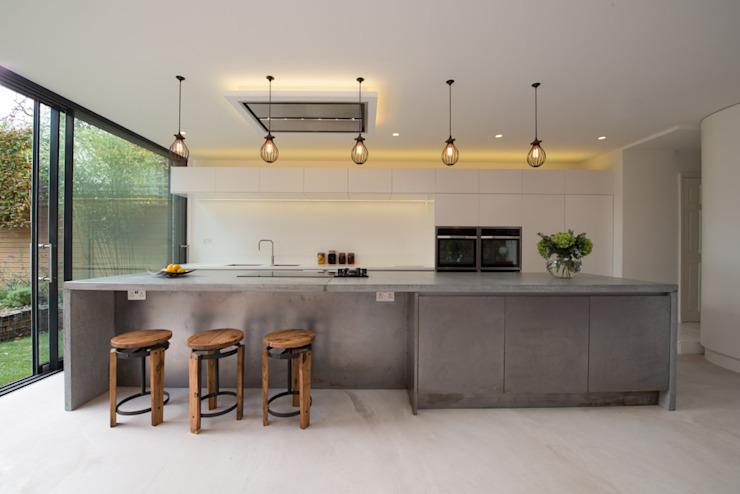 Peckham maison victorienne enveloppant l'extension Ar'Chic cuisine de style industriel