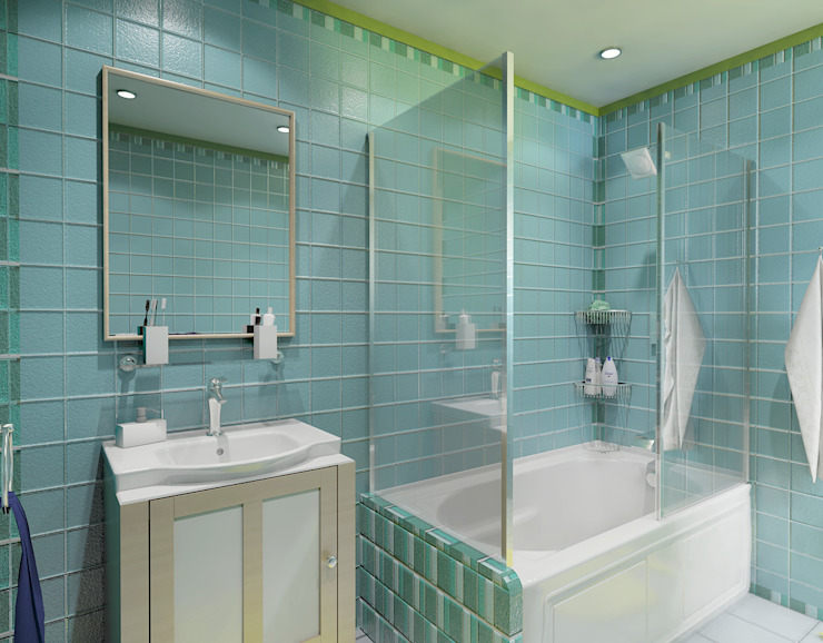Salle de bains des garçons Ravenor's Design Solutions Salle de bains moderne Bleu
