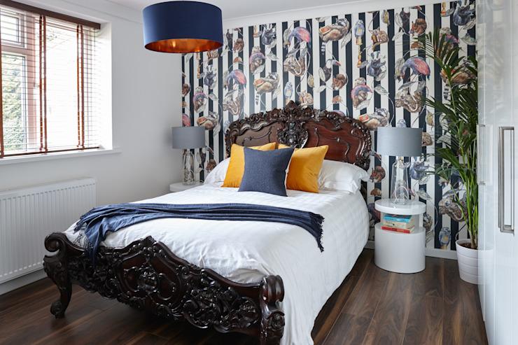 Virginia Water Apartment - Surrey Bhavin Taylor Design Chambre à coucher de style moderne