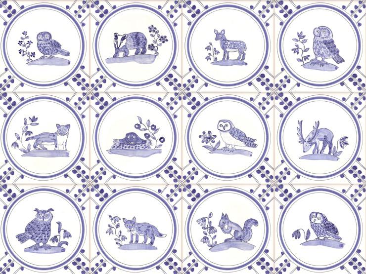 British Wildlife tiles Reptile tiles & ceramics Murs & solsTiles