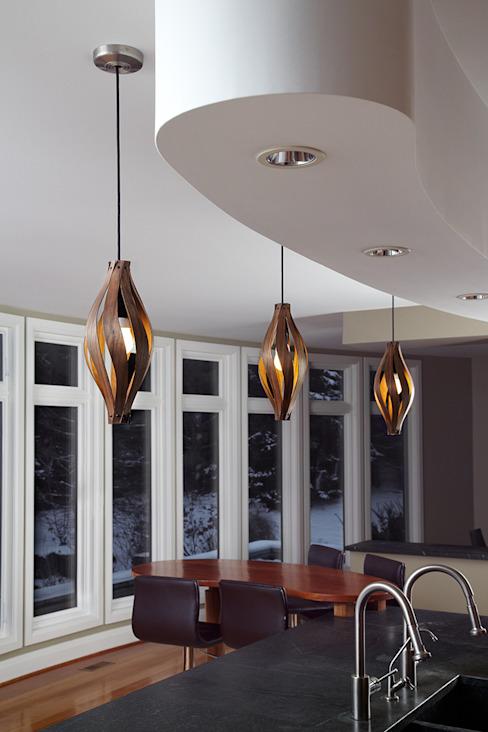 Cocon Lumière de pendentif MacMaster Design Salle de séjourPieds et armoires de télévision