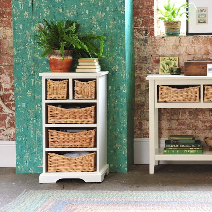 Farmhouse Ivory Coffre à 5 tiroirs The Cotswold Company Chambre à coucher de style champêtre Bois Blanc