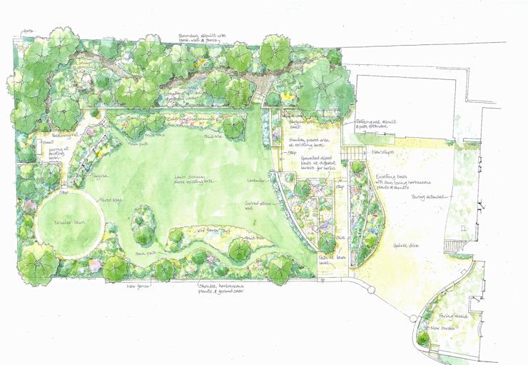 Plan des jardins Christine Wilson Gardens