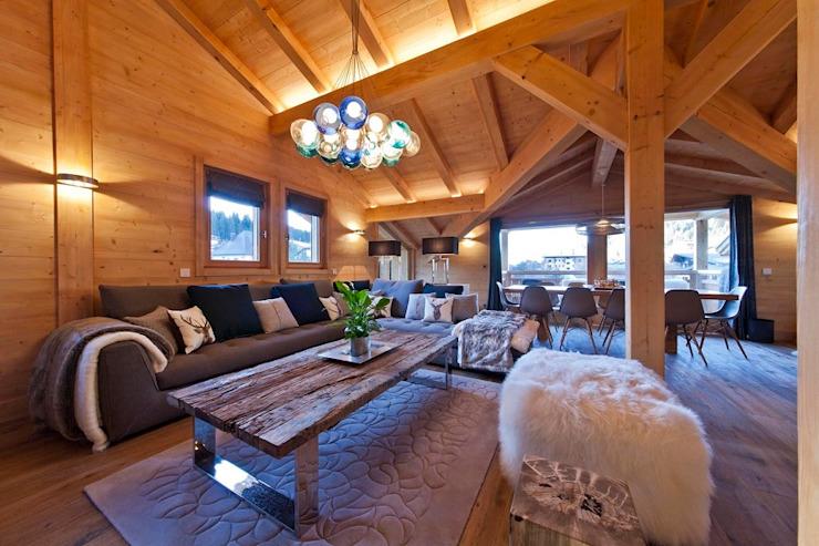 Chalet de ski Salle de séjour 2 David Village Éclairage Salle de séjourÉclairage