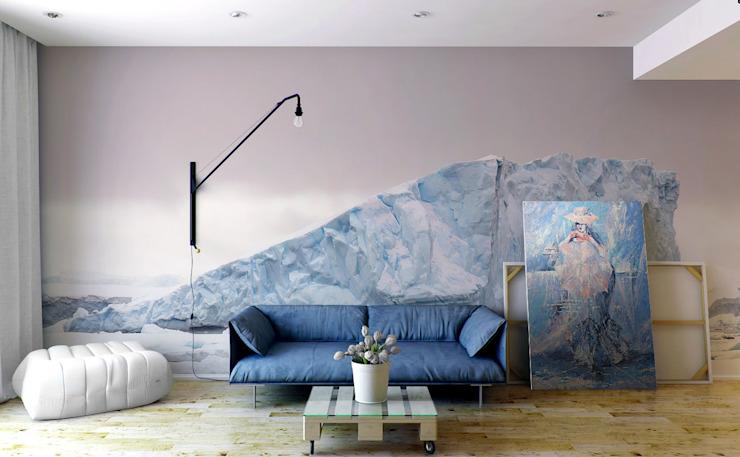 Ice Cold Pixers Salon minimaliste Bleu