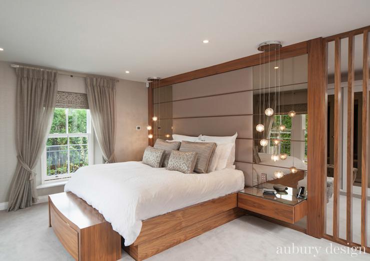 Salon contemporain Aubury Design Chambre à coucher de style moderne