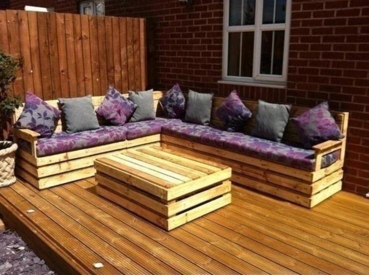 Meuble d'angle de jardin Meubles en palettes uk Meubles de jardin
