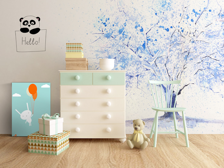 Blue Tree Pixers Chambre d'enfant de style scandinave