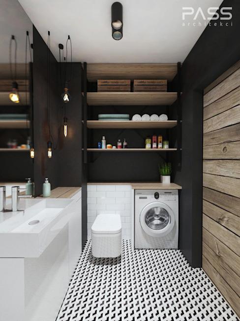PASS architekci Salle de bain de style industriel