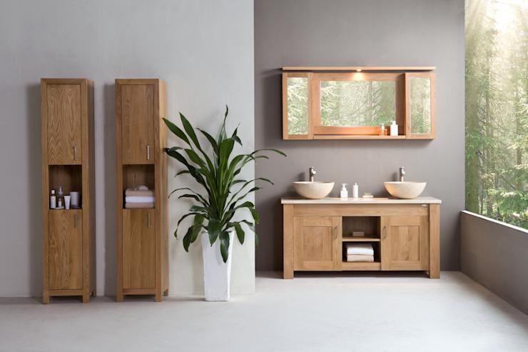 Stonearth - lavabo double en chêne fin Stonearth Interiors Ltd salle de bain de style scandinave