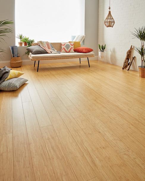 Oxwich Natural Strand Bamboo Woodpecker Flooring Modern walls & floors Bamboo Amber/Gold