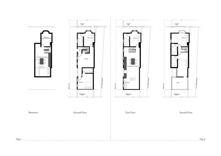Conversion de maison, Kensington RS Architects Maisons de style industriel