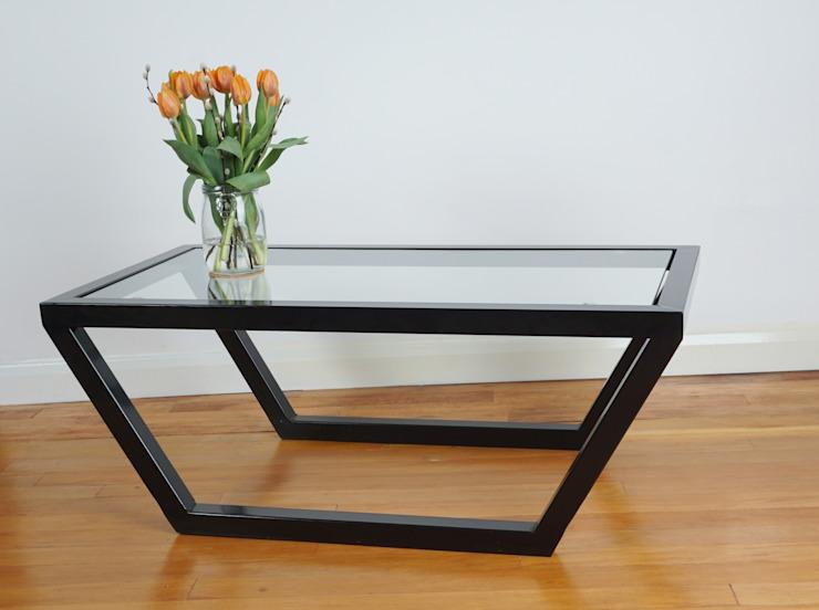 Table basse en verre et acier Urban Metalworks SalonTables d'appoint et plateaux