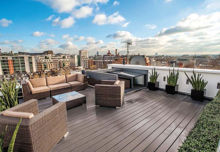 Telegraph House MAA Architects Balcon, véranda et terrasse de style classique