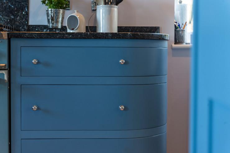 Ferme française bleue Meubles Auspicieux Cuisine rustique Bois Bleu