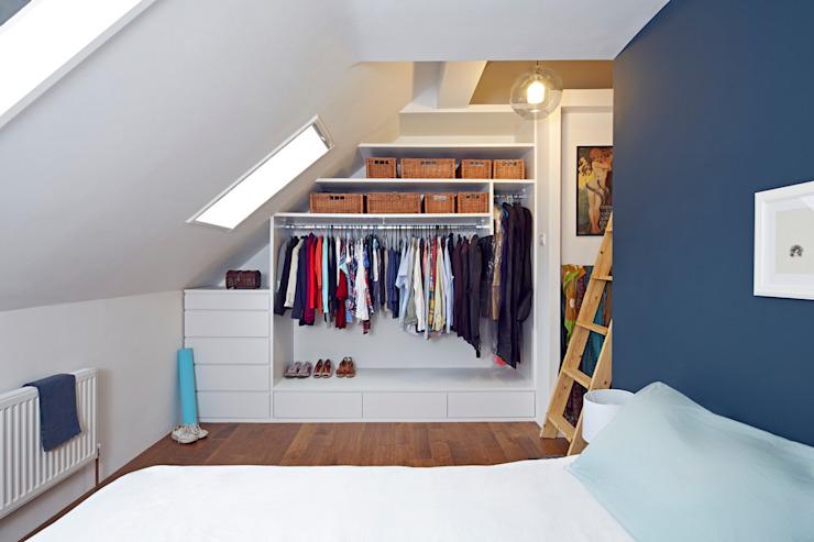 Chambre à coucher principale Travaux collectifs Chambre à coucher de style moderne