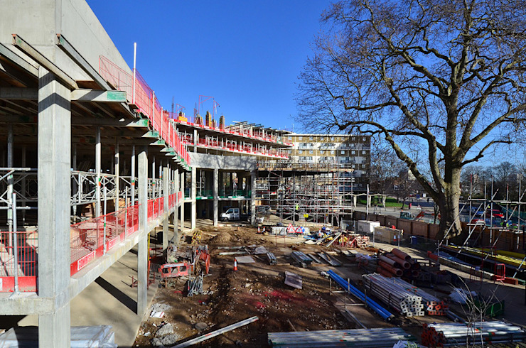 Photographie de chantier Graham D Holland Espaces commerciaux modernes