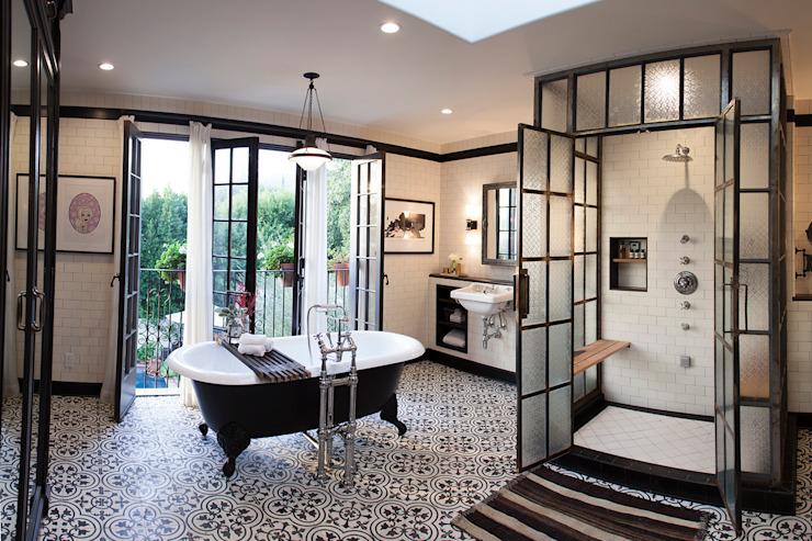 Étude de cas Drummonds : Loz Feliz Retreat, Californie Drummonds Bathrooms Salle de bainBaignoires et douches