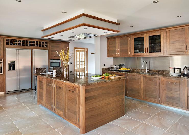 Grosvenor | Noyer et Marbre Elégance Davonport Cuisine moderne Bois Brun