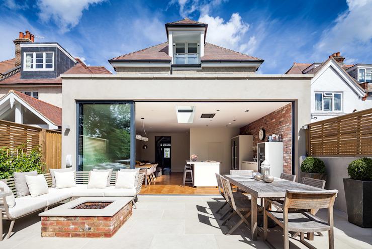 Ashley Road Concept Eight Architects Balcon, véranda et terrasse modernes
