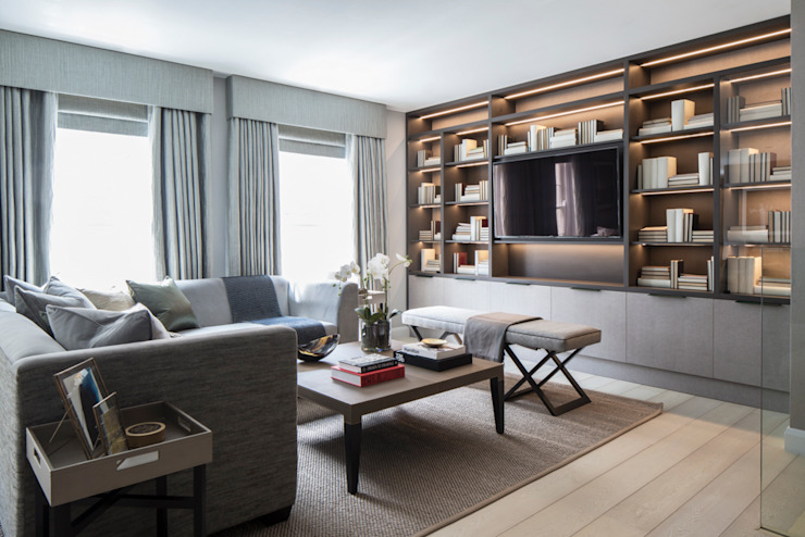 Eaton Mews North - Salle de séjour Roselind Wilson Design Salle de séjour moderne
