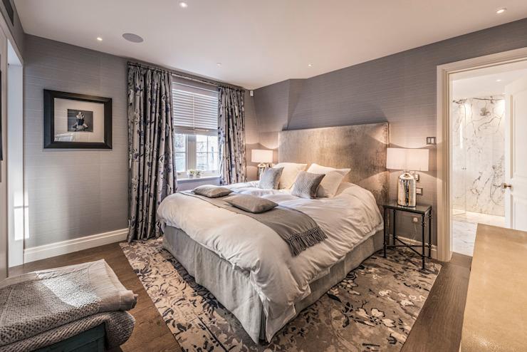 Chambre à coucher principale RBD Architecture & Interiors Chambre à coucher de style classique Gris
