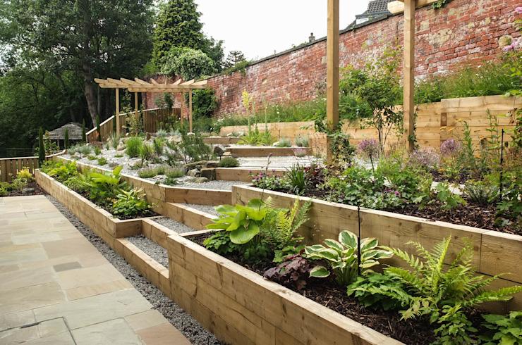 Jardin moderne avec une touche rustique Yorkshire Gardens Jardin moderne