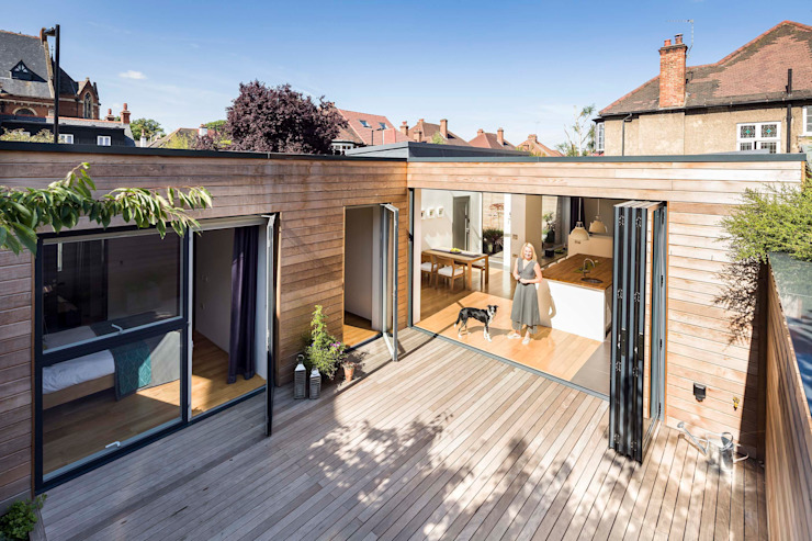 Courtyard House - East Dulwich Designcubed Balcon, véranda et terrasse modernes
