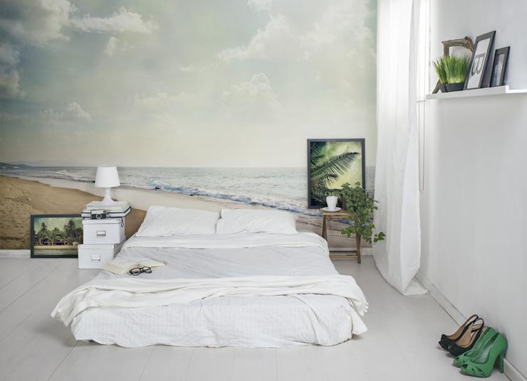Sea Side Pixers Chambre à coucher de style moderne Multicolore