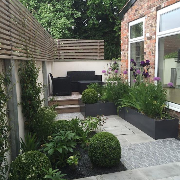 Bowden House Aralia Jardin de style minimaliste Stone Green