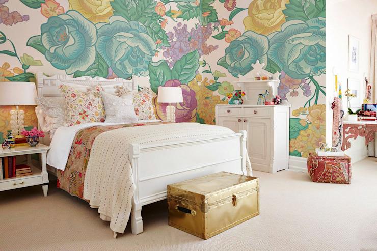 Shabby Chic Pixers Chambre à coucher de style classique Multicolore